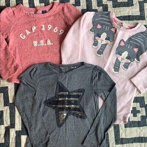 Bundle 4T Long Sleeve Girls Shirts GAP H&M
